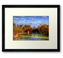 Autumn on the Boardwalk Framed Print