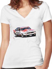 1979 A9X Torana Hatchback - Bathurst / Brock Women's Fitted V-Neck T-Shirt
