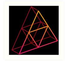 Triforce 3D Intense Art Print