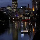 Melbourne at night by Kate Kohaly