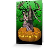 Zombie Halloween Greeting Card