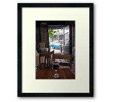 French Restaurant View Framed Print