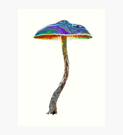 Psychedelic shroom Art Print