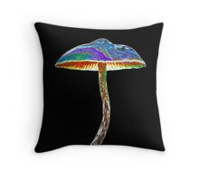Psychedelic shroom Throw Pillow