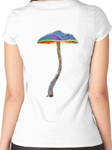 Psychedelic shroom Women's Fitted Scoop T-Shirt