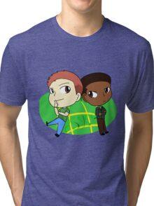 Crime Chibi 2_Psych Tri-blend T-Shirt