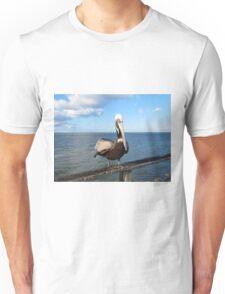 Sitting On The Pier Unisex T-Shirt