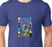 Blue Star Stained Glass Unisex T-Shirt
