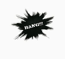 Black Painted Explosion with Bang Word T-Shirt