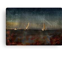 Ship Building in The Bay  Canvas Print