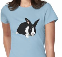 BLACK RABBIT CUTE  Womens Fitted T-Shirt