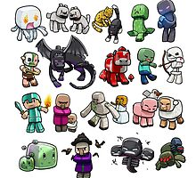 minecraft world characters by keichi