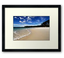Green Patch Framed Print