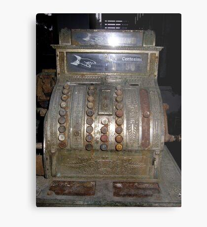 A rusty very old Calculator Machine Metal Print
