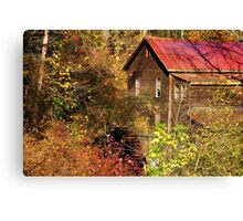 Alcovey Road Grist Mill  Canvas Print