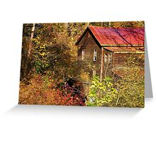 Alcovey Road Grist Mill  Greeting Card