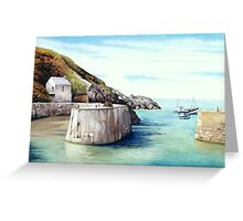 Porthgain Harbour 2, Pembrokeshire, West Wales Greeting Card
