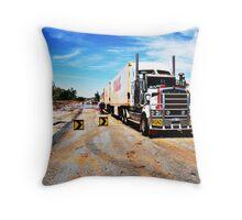 Road Train Throw Pillow
