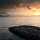 Queen Mary 2 Sunset by Grant Glendinning