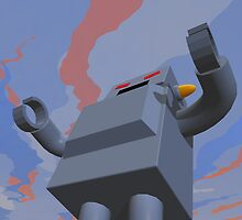 Retro Style Robot 2 by mdkgraphics