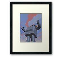 Retro Style Robot 2 Framed Print
