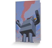 Retro Style Robot 2 Greeting Card