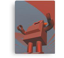 Retro Style Robot 3 Canvas Print