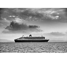 Queen Mary 2 mono Photographic Print