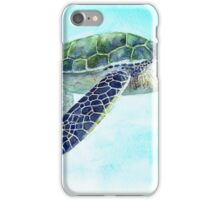Postcards for the Reef 2: Happy Turtle iPhone Case/Skin