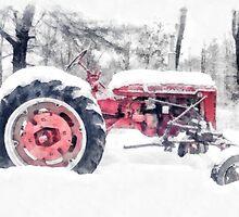 Old Farmall Tractor in Winter by Edward Fielding