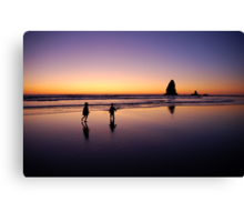 When the sun goes down the rock spirits play Canvas Print