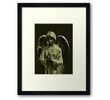 Go To God In Prayer Angel Framed Print