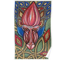 The Mystical Mandrill Speaks with the Honeyed Tongue of Flowers..... Poster