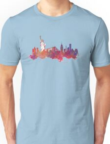 New York city Skyline red Unisex T-Shirt