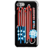 Team crochet USA flag patriotic crochet hooks iPhone Case/Skin
