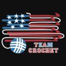 Team crochet USA flag patriotic crochet hooks by BigMRanch
