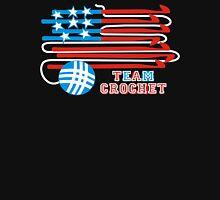 Team crochet USA flag patriotic crochet hooks Womens Fitted T-Shirt