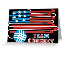 Team crochet USA flag patriotic crochet hooks Greeting Card