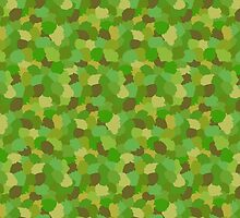 Green Camouflage Military Pattern by amovitania