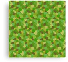 Green Camouflage Military Pattern Canvas Print