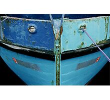 Blue Bow Photographic Print