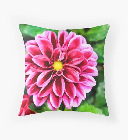 Miniture Dahlia Throw Pillow