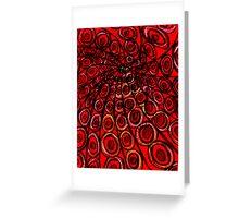 red vortex Greeting Card