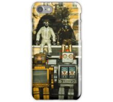Vintage Robots in a window iPhone Case/Skin