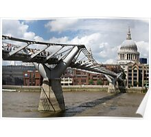 Millenium Bridge, London, United Kingdom Poster