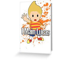 I Main Lucas - Super Smash Bros. Greeting Card