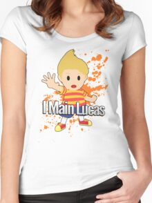 I Main Lucas - Super Smash Bros. Women's Fitted Scoop T-Shirt
