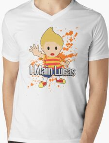 I Main Lucas - Super Smash Bros. Mens V-Neck T-Shirt