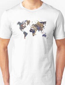 Map of the world sun Unisex T-Shirt