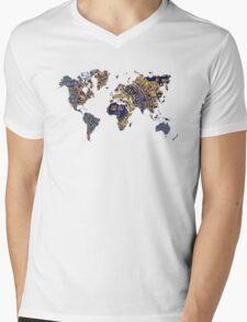 Map of the world sun Mens V-Neck T-Shirt